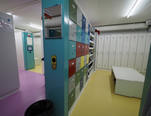 Hospital employee lockers