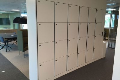 Agile lockers for employees in offices