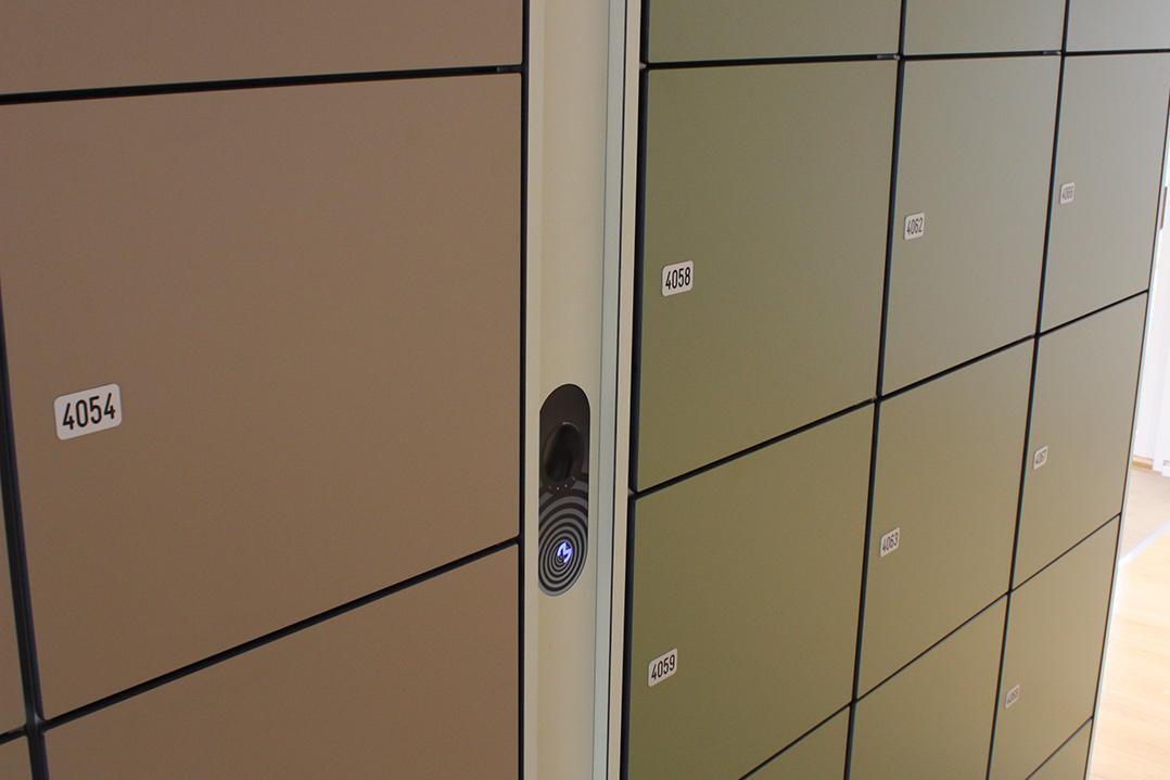 assigned office lockers for employees