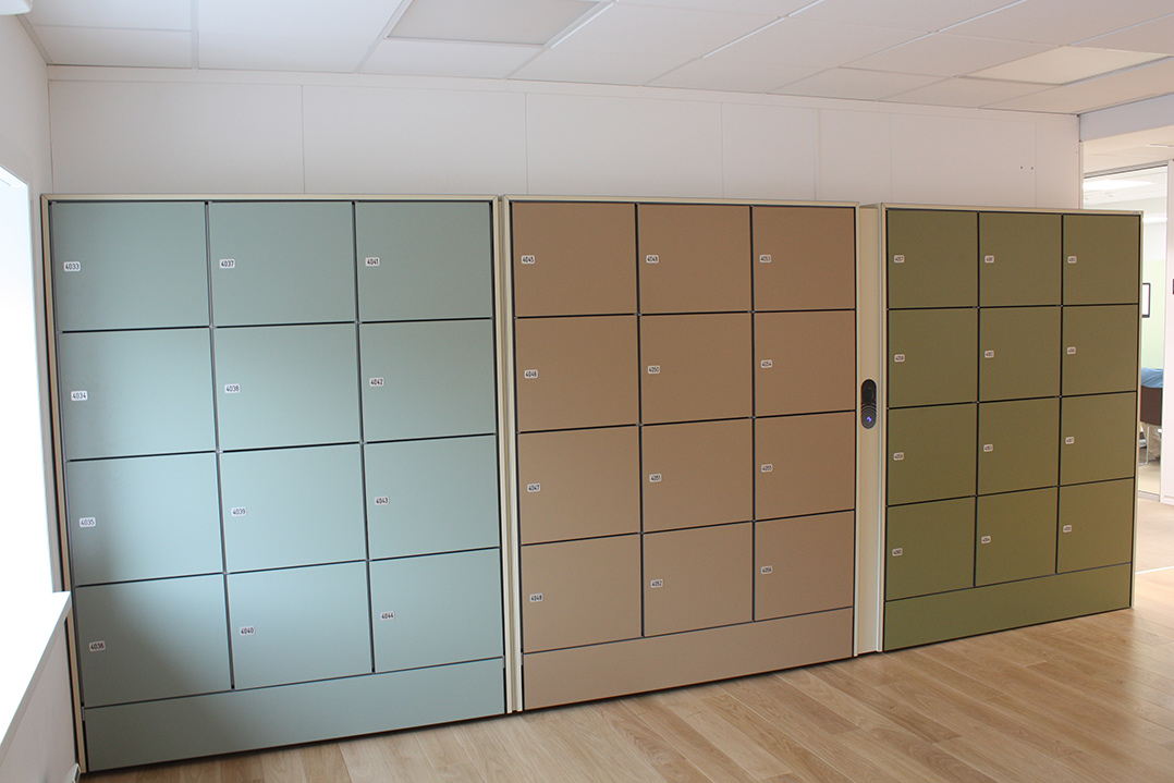 dedicated lockers office