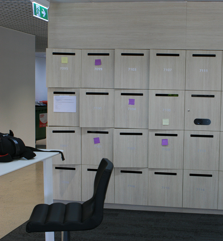 office mail lockers system