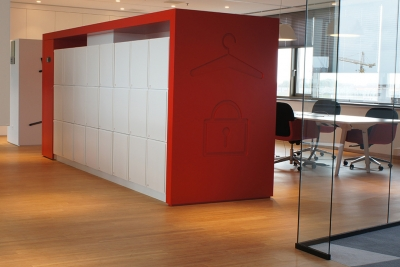 agile lockers for workplace