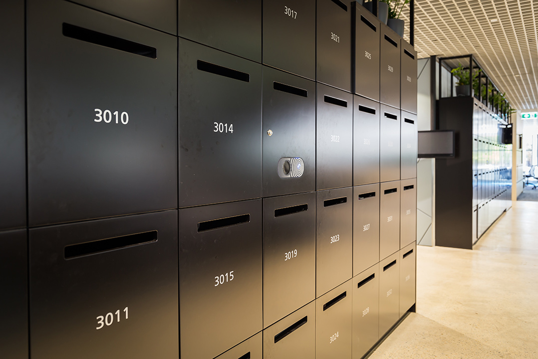 assigned lockers in public office